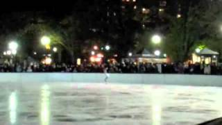 """Yasmin Siraj, 2010 US junior national silver medalist, skating to """"Halo"""" at the Frog Pond opening show in Boston, 11/21/10."""