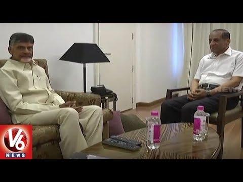 CM Chandrababu Meets Governor Narasimhan And Discuss On AP Politics | V6 News