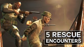 """Careful what you say.  Trip up, and his head gets blown off...  Here, I list 5 Rescue Encounters in Fallout 4.  When the Sole Survivor isn't saving Shaun, he's trying his luck with other people of the Commonwealth.  But that doesn't always go as planned.  I also do other Top 5s, like """"most annoying"""" subjects, and Fallout 4 secrets.  There are secret locations, even secret enemies and quests to be found.  Which usually lead to weird theories.Since I'm on PC, I love the Fallout 4 new mods.  There are quest mods and companion mods that are outstanding.  They make creating character builds, or looking for random and rare encounters, or anything weird, or even sad deaths a lot more fun.Please like, comment, and subscribe, and if you want to talk, my other social media is below : )https://www.instagram.com/graenolfhttps://www.twitter.com/graenolf"""