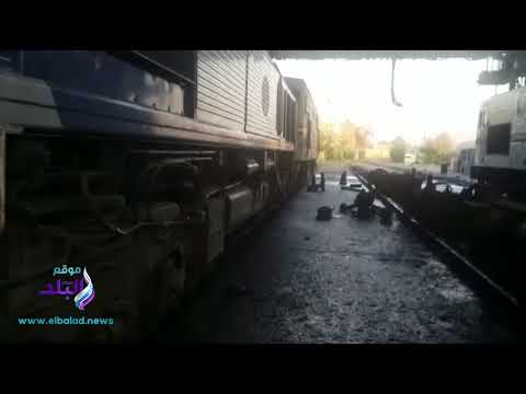 السكة الحديد تكشف حقيقة فيديو وجود خرير سولار من احد الجرارات