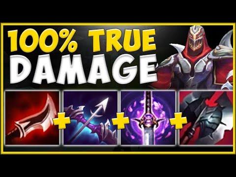 100% TRUE DAMAGE BUILD ON ZED IS TRULY ABSURD! ZED SEASON 10 TOP GAMEPLAY! - League of Legends