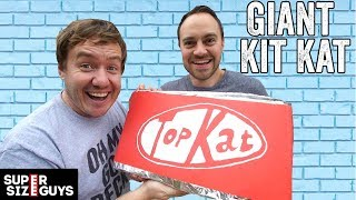 We made a Giant Kit Kat! | Super Size Guys by  My Virgin Kitchen