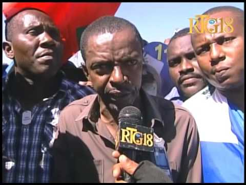 Manifestation contre l'arrestation du sénateur élu de la Grand'Anse, Guy Philippe