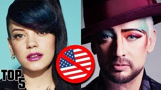 5 Famous Celebrities Banned From America