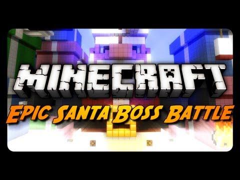 Minecraft Mini-Game: EVIL SANTA BOSS BATTLE! (Merry Christmas / Happy Holidays)