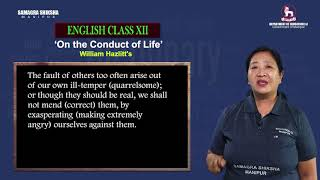 Unit 1 Part 3 of 4 - On the conduct of life