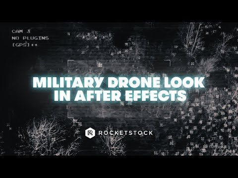 How To Create A Military Drone Effect In After Effects | After Effects Tutorial