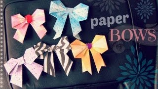 DIY: Paper Bow - Scrapbooking / Origami / Locker Decor - YouTube