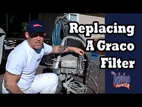operating a graco 695 - How to remove a filter on a Graco 695 Airless sprayer for cleaning. Removing and re-installing the filter. Issues that may arise if the filter on the airless...