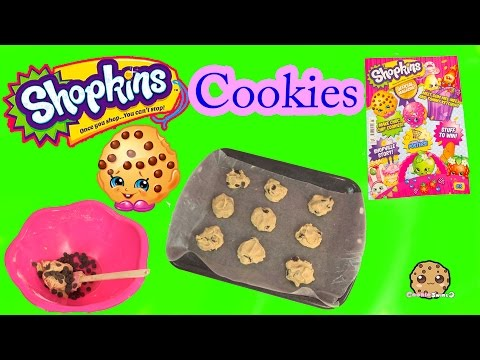 Baking Chocolate Chip Cookies With Shopkins Kooky Cookie From Official Magazine Recipe