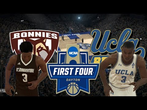 2018 NCAA Tournament Play In Game: St. Bonaventure vs UCLA: NBA 2K18 College Rosters