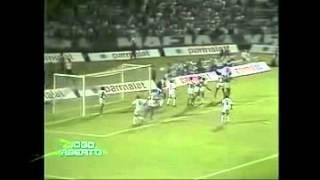 O Santos superou o Palmeiras (1 a 0), no Palestra Itália, pela Primeira fase do Campeonato Brasileiro 1993. Guga garantiu a...