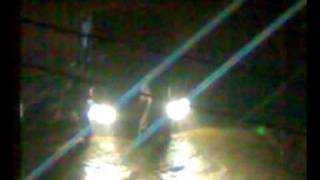 due to heavy rain fall, khi roads flooded with water as there is no drianage system..thus people facing great problem