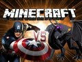Minecraft Battle - Captain America VS THE ENDER DRAGON!!