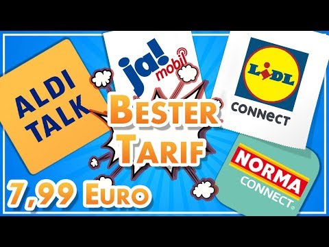 Der BESTE Discount-Tarif für 7,99 Euro - Aldi Talk, Lidl Connect etc.