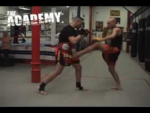 mbenson001 - muay thai training, kickboxing, instruction front kick technique teep.