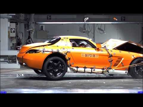 Mercedes-Benz SLS AMG Crash Test New Mercedes SLS AMG 2010