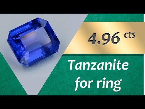 Tanzanite Ring: Design Unique Ring with Tanzanite 4.96 Carats