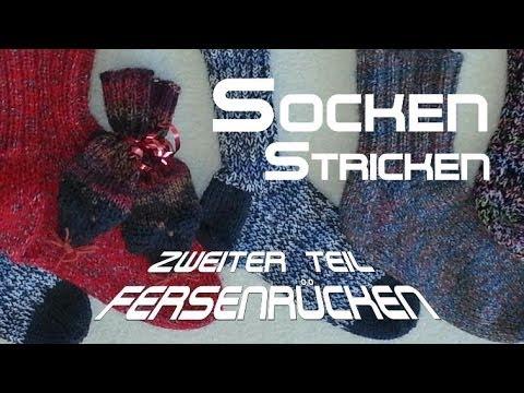 Socken stricken 2 * Fersensteg/Fersenrücken – Anleitung – mit Christine