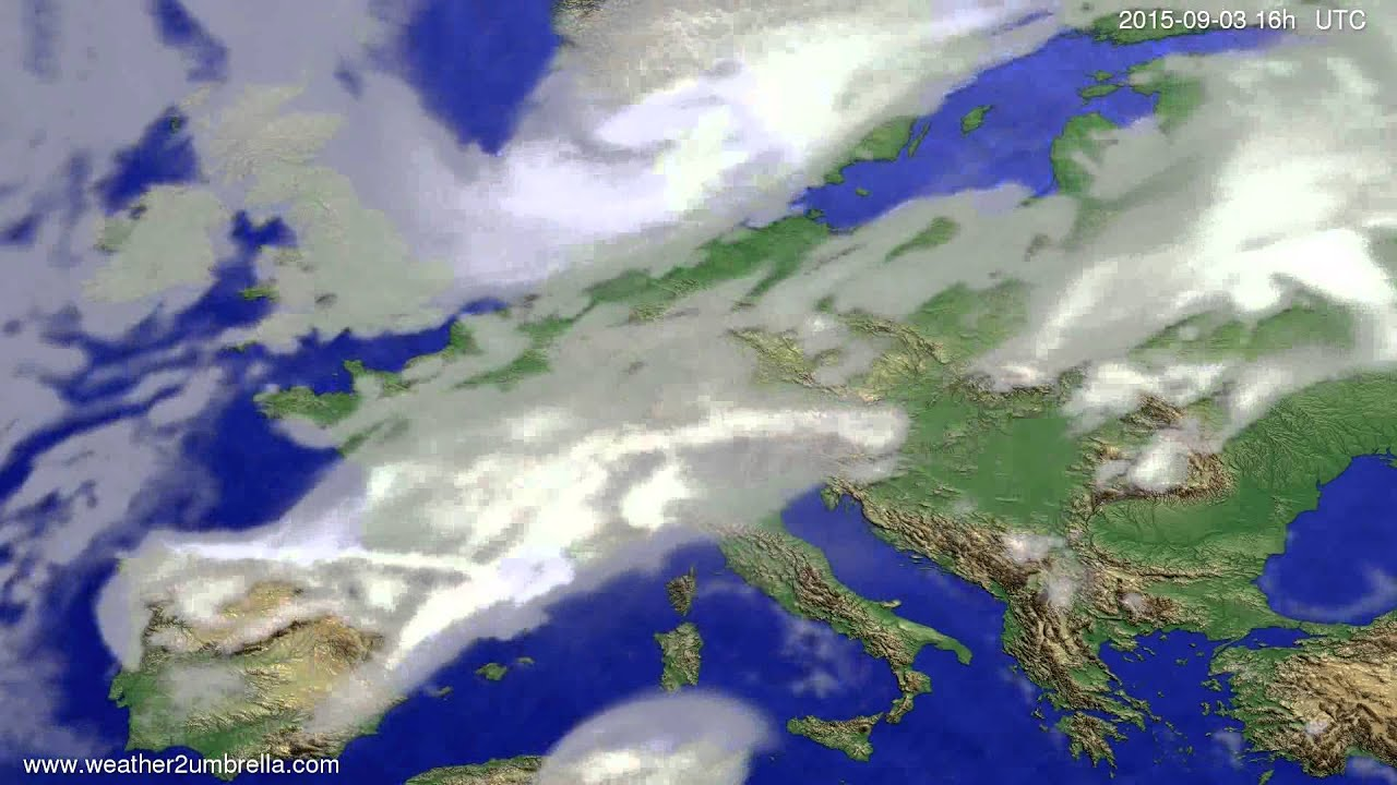 Cloud forecast Europe 2015-08-30