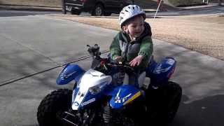 4. Tyler Riding His Polaris Outlaw 50 at Age 3 Christmas 2013