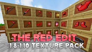 AciDic BliTzz RED EDIT Texture Pack (1.8/1.9/1.10 Resource Pack)
