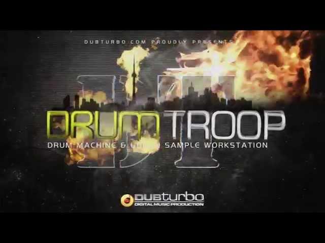 DrumTROOP WalkThrough - Free 16x Drum Machine VSTi/AU - DUBturbo