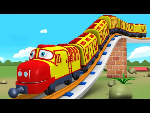 Let's Do It: Trains for Kids - Choo Choo Cartoon Train for Children - Toy Factory Cartoon Train