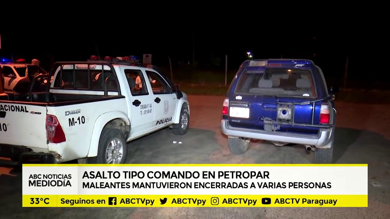 Asaltan estación de servicios y llevan 500 millones de guaraníes