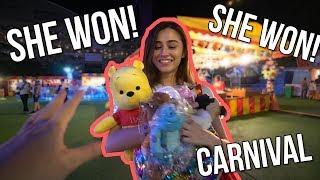 Video SHE FINALLY WON IN THE CARNIVAL! - Arcade Ninja (Marina Bay Carnival) MP3, 3GP, MP4, WEBM, AVI, FLV Januari 2019