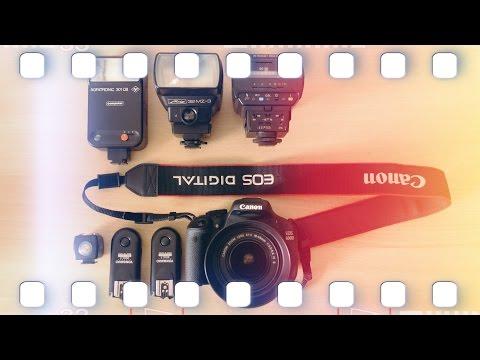 Alte analoge Blitze mit digitalen Kameras benutzen ft. Canon EOS DSLR