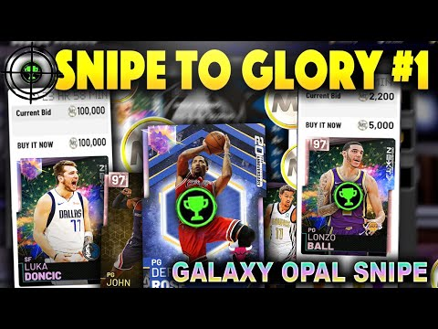 SNIPE TO GLORY #1 INSANE GALAXY OPAL SNIPE MISSED!! CRAZY PINK DIAMOND SNIPES!! NBA 2K19