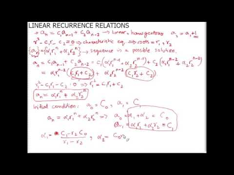 Solving Homogeneous Linear Recurrence Relations - The Fibonacci Sequence
