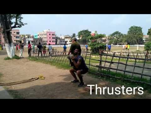 Desi Outdoor crossfit workout.