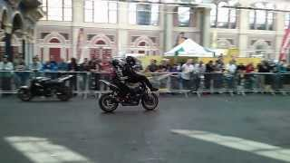 The brothers racing stunt team of bolddog.com made a great performance at the Alexandra Palace (ally pally) in London 7/8 September 2013. One of the stunt bi...