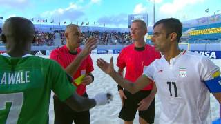 Watch group stage highlights of the match between Nigeria and Iran from the FIFA Beach Soccer World Cup in the Bahamas.