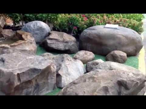 หินเทียมสำหรับตกแต่งสวน น้ำตก หินผา