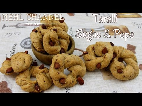 taralli napoletani sugna, pepe e mandorle - ricetta