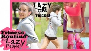 FITNESS ROUTINE FOR LAZY PEOPLE! (Teenagers) - YouTube