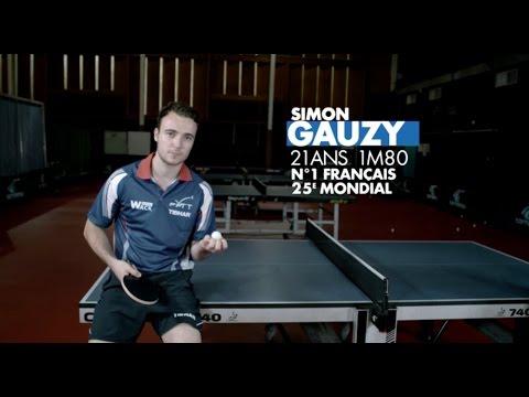 Simon Gauzy et Emmanuel Lebesson dans l'oeil de la caméra invisible sur Canal +