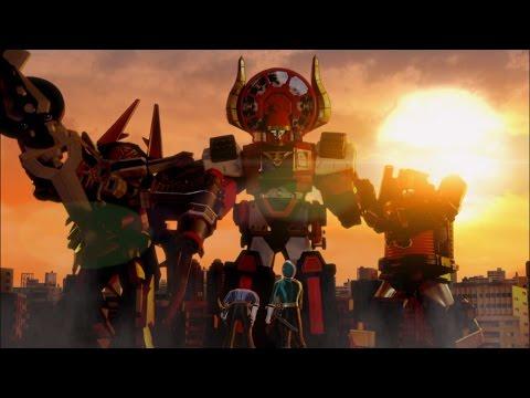 Power Rangers Super Samurai - A Sticky Situation - Megazord Fight | Power Rangers Official