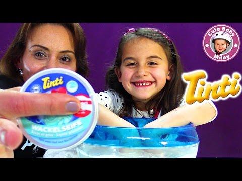 TINTI WACKELSEIFE Test | Händewaschen mit Glibber Seife | CuteBabyMiley
