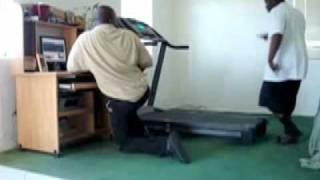 Black Guy On Treadmill