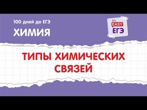 Типы химических связей. ЕГЭ по химии - DomaVideo.Ru
