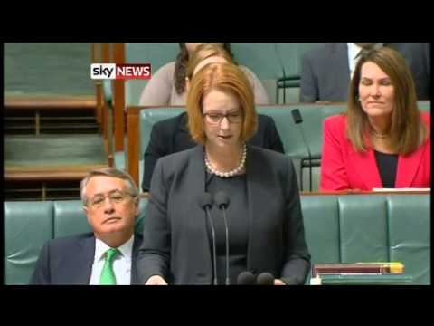 Julia Gillard - Australia's Prime Minister Julia Gillard breaks down as she introduces a groundbreaking disability scheme.