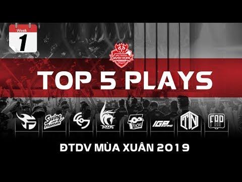 TOP 5 PLAYS ĐTDV MÙA XUÂN 2019 - TUẦN 1 | Lời Khiêu Chiến Của Tân Binh - Thời lượng: 3 phút, 9 giây.