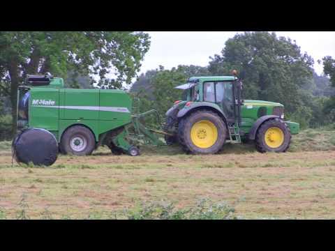 John Deere Tractor and McHale Bailer