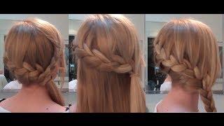 пошаговая прически на средние волосы