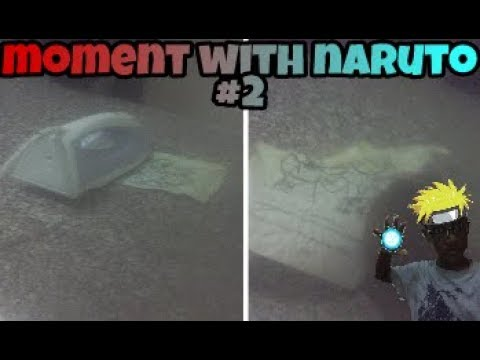 Burning a paper with an iron (moments with naruto#2) don't try this at home!!!!!!!!!!