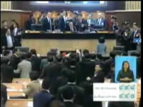 Democrat Party antics in Thai parliament